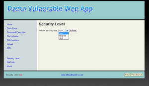 DVWA Security Settings