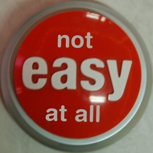 """an easy button that reads """"not easy at all"""""""