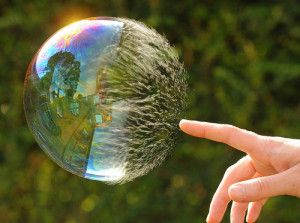 bursting bubble, as security problems can cause a startup to fail